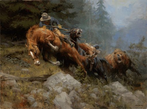 Grizzly Mountain   Bear Fight   Hunting  