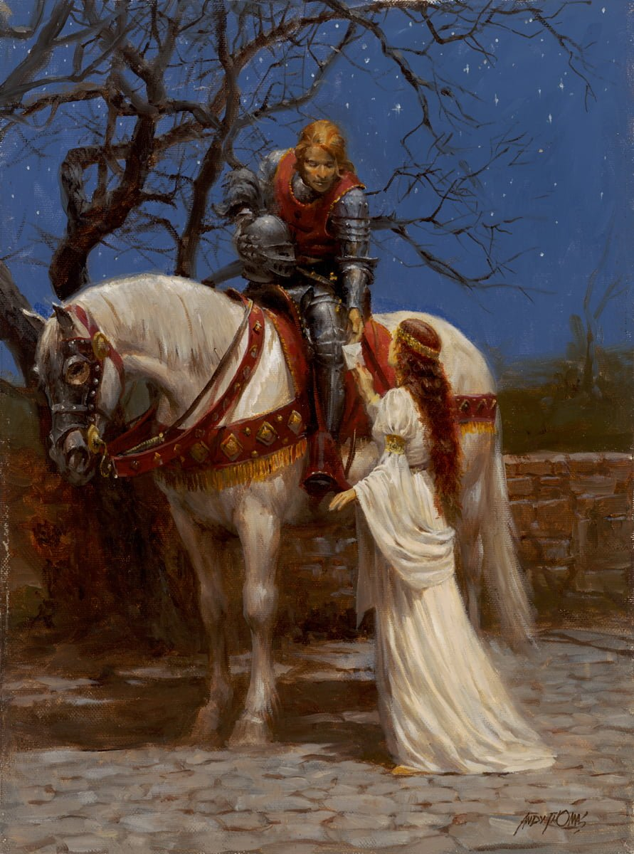 A Knight and his Lady   Romance   Middle Ages   Shining